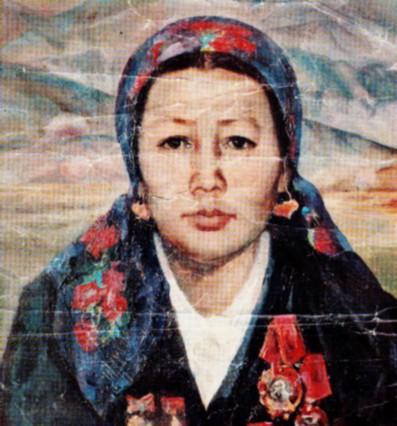Портрет М. Габдуллиной, художник Г. Исмаилова